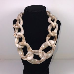 Chunky Lucite Marble necklace